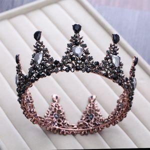 Vintage / Originale Baroque Noire Tiare 2018 Métal Faux Diamant Accessorize