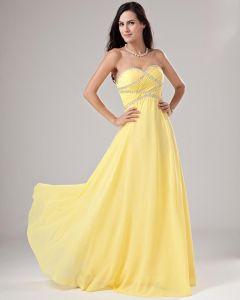 Eleganter Chiffon Applique Rüschen Abendkleider