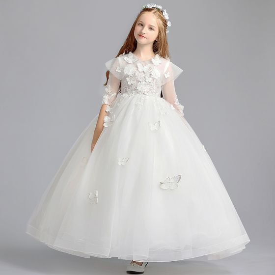 3/4 Sleeve Flower Girl Dress