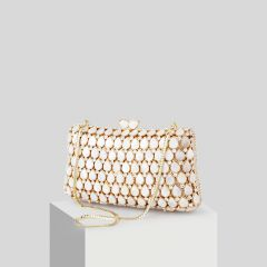 Unique Champagne Faux Diamant Pochette 2019