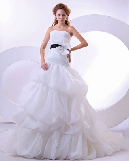 Yarn Satin Sleeveless Sweetheart Cathedral Train Mermaid Wedding Dresses