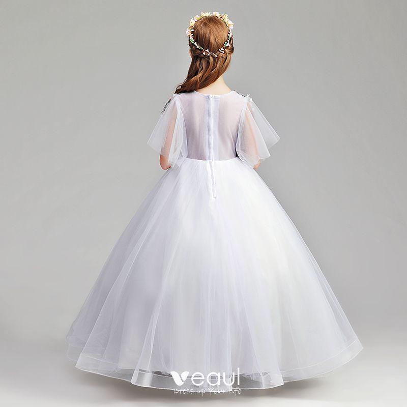 Simple lavande robe ceremonie fille 2019 princesse for Robe de lavande pour mariage
