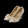 Glamourös Ivory / Creme Glanz Pailletten Brautschuhe 2020 Leder Strass Perle 9 cm Stilettos Spitzschuh Hochzeit Pumps