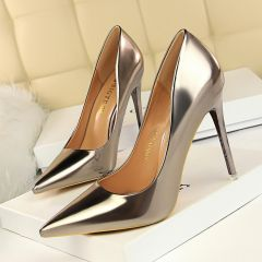 Chic / Beautiful Bronze Evening Party Pumps 2020 10 cm Stiletto Heels Pointed Toe Pumps