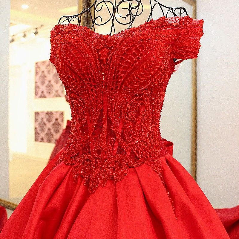 Chic / Beautiful 2017 Prom Dresses Red Covered Button Chiffon Leaf Chapel Train Casual Church Cocktail Party Evening Party U-Neck Summer Sleeveless A-Line / Princess