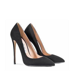 Modest / Simple Black Office OL Pumps 2020 12 cm Stiletto Heels Pointed Toe Pumps