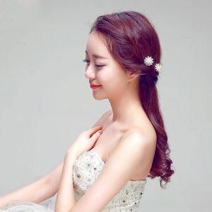 Mode-u-vorm Wit Bruids Hoofdtooi / Head Bloem / Bruiloft Haar Accessoires / Bruiloft Sieraden