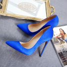 Chic / Beautiful Royal Blue Pumps 2019 Leather Suede 12 cm Stiletto Heels Pointed Toe Pumps