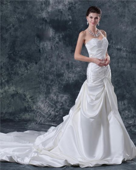 Linke Kochanie Satyna Linii Katedra Suknie Ślubne Suknia Ślubna Princessa
