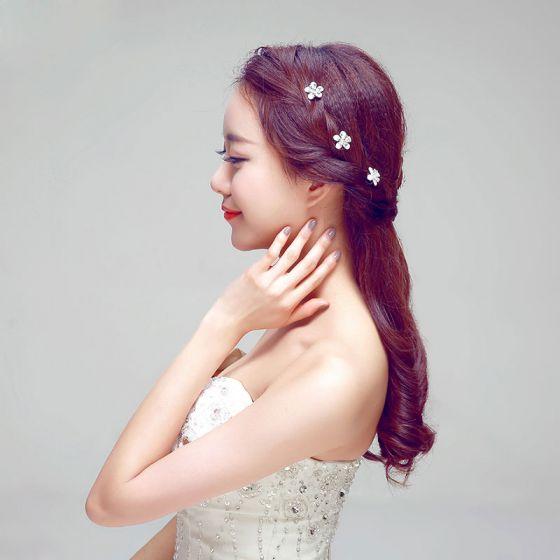 Simulation Petals Bridal Headpieces / Red Head Flower / Wedding Hair Accessories / Wedding Jewelry