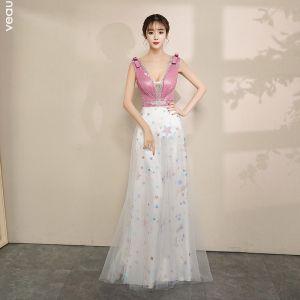 pink white dress