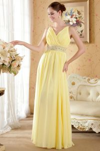 2015 Faultless V-neck Zipper Floor-length Long Evening Dresses