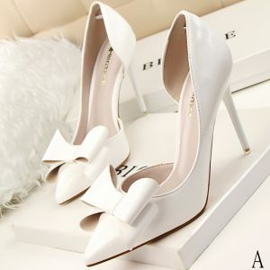 Classic 2017 8 cm / 3 inch Black Red Silver White Casual PU Summer High Heels Stiletto Heels Pumps