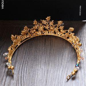 Elegante Goud Zilveren Metaal Rhinestone Tiara 2017 Bruidssieraden