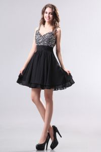 2015 Classic Black Beading Empire Cocktail Dresses