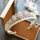 Sparkly Gold Metal Rhinestone Tiara 2017 Bridal Jewelry
