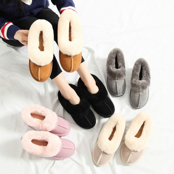 Modern / Fashion Snow Boots 2017 Leather Suede Casual Winter Flat Womens Boots