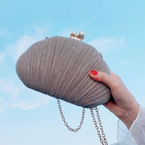 Fashion Champagne Metal Clutch Bags 2020