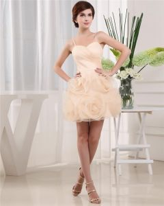 Sweetheart Sleeveless Zipper Mini Length Ruffle Satin Tulle Woman Homecoming Dresses
