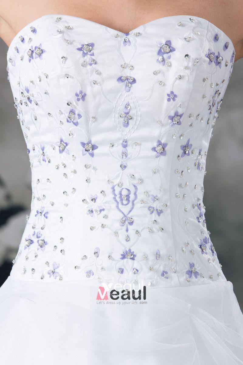 Organza Beading Applique Sweetheart Floor Length A Line Wedding Dress