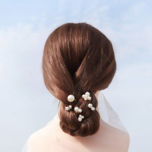 Chic / Beautiful Silver Pearl Headpieces Bridal Hair Accessories 2020 Alloy Wedding Accessories