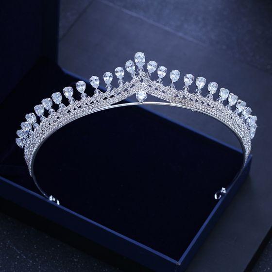 Classic Silver Wedding Tiara 2018 Metal Rhinestone Accessories