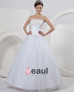 Elegant Tyll Broderi Balklänning Brudklänningar Bröllopsklänningar
