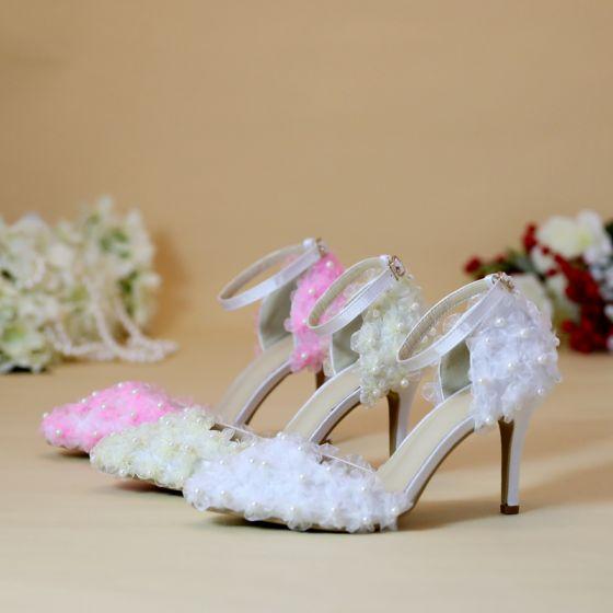 Chic / Beautiful White Wedding Shoes