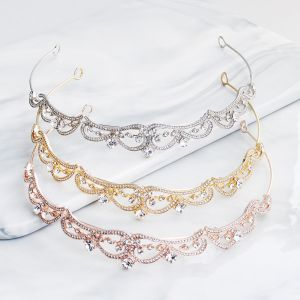 Classic Rhinestone Tiara Hair Hoop 2020 Metal Bridal Hair Accessories