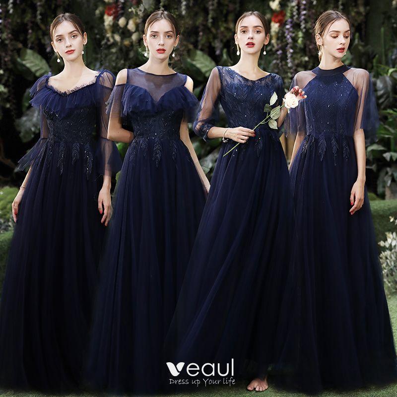 Affordable Navy Blue Bridesmaid Dresses