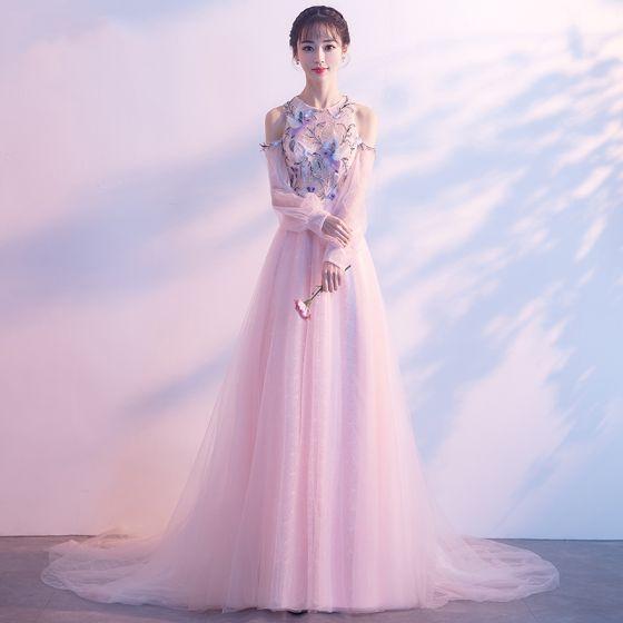 Rosa abendkleid mit strass