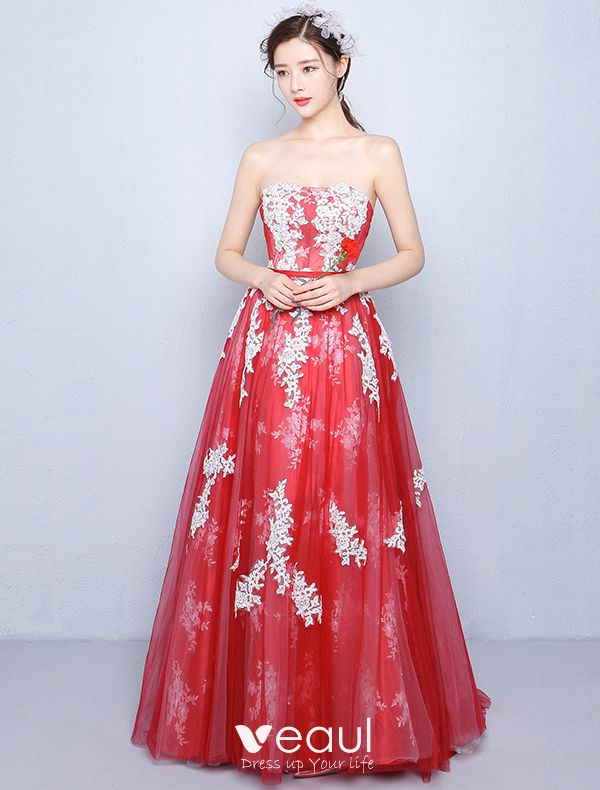 Beautiful Prom Dresses 2016 A-line Strapless