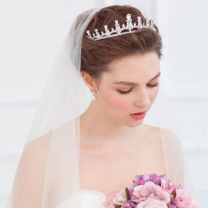 Brud Liten Krone Hodeplagg / Brudekjole Med Smykker