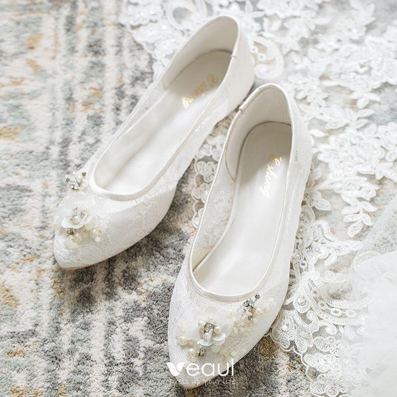 Beautiful White Summer Wedding Shoes