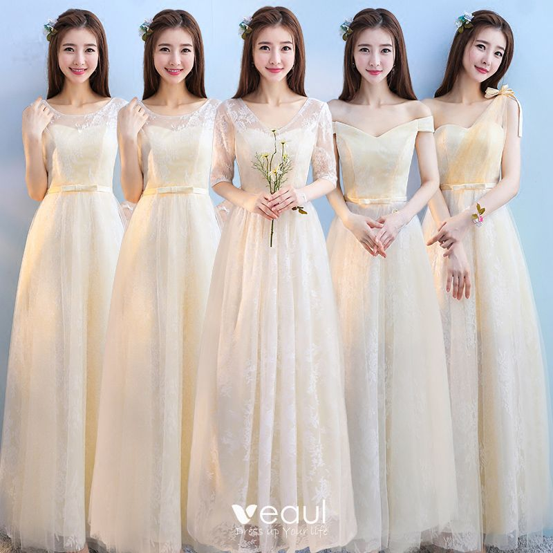 Discount Champagne Bridesmaid Dresses