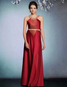 Elegante Appliques Beauding Longue Robe De Soirée