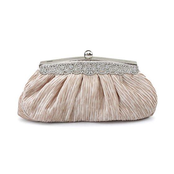 Dinner Fold Silk Clutch Bag Diamond Wild Bridesmaid Bag Small Bag