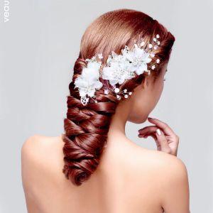 Spitzeblume Haarschmuck Braut Haarschmuck