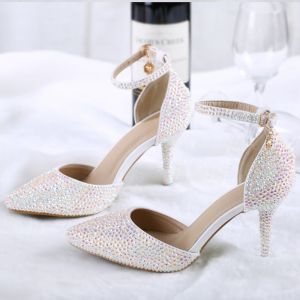 Charming Fabulous Multi-Colors 2018 Beading Rhinestone Wedding Engagement Red Carpet Wedding Shoes