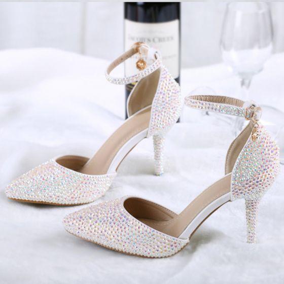 Charming Fabulous Multi-Colors 2018 Beading Rhinestone Wedding Engagement Red Carpet Wedding Shoes