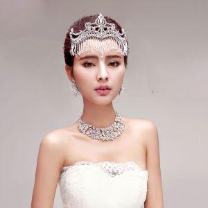 Luxus Braut Halskette / Ohrringe / Tiara Dreiteilige