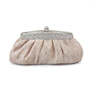 Abendessen Falten Silk Clutch Tasche Diamant Wilden Jungfern-tasche Kleine Tasche