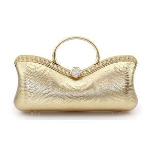 High Texture Pu Leather Mobile Packet European And American Fashion Evening Bag Banquet Bag Clutch Bags
