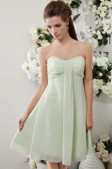 2015 Classical Chiffon Sweetheart Zipper Short Bridesmaids Dresses