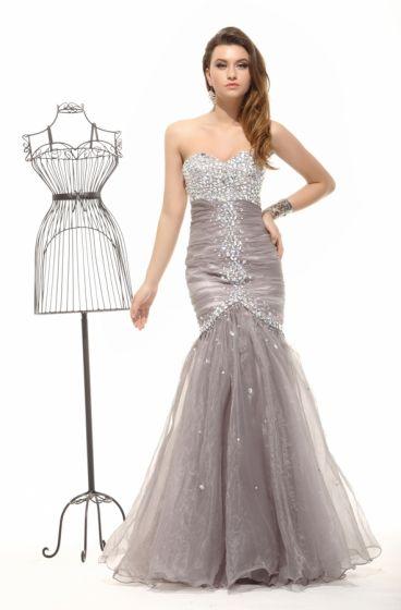 2015 Fashion Champagne No Train Mermaid Evening Dresses