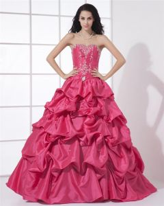 Ball Gown Beautiful Sweetheart Floor Length Beading A-Line Quinceanera Prom Dress