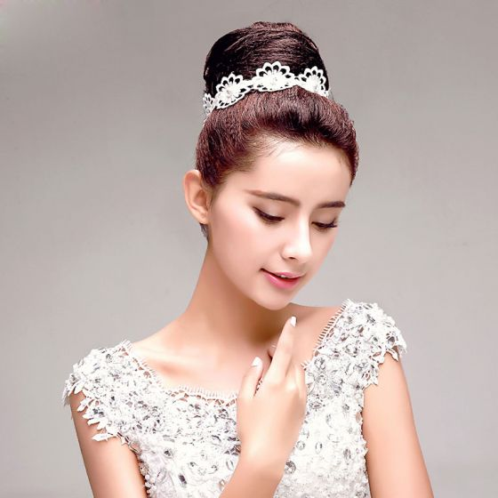 Weiß Rhinestone-blumen Die Haarschmuck Braut Blume Haar-accessoires