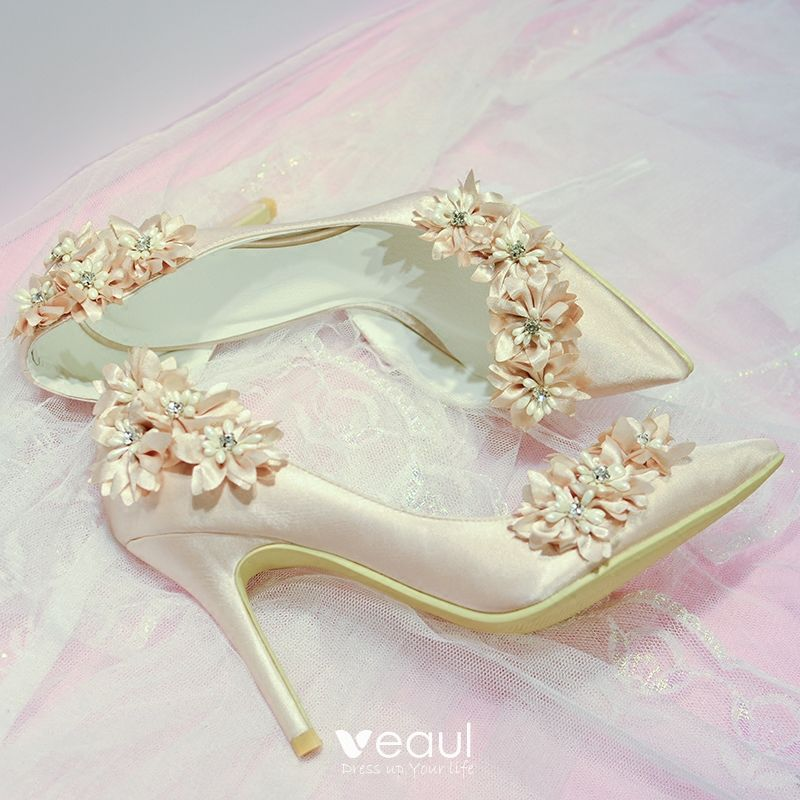 Beautiful Champagne Wedding Shoes 2018