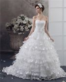 Sweetheart Beading Flower Floor Length Yarn Ball Gown Wedding Dress