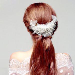 Mote Perle Rhinestone Brude Hodeplagg / Hode Blomst / Bryllup Har Tilbehør / Bryllup Smykker